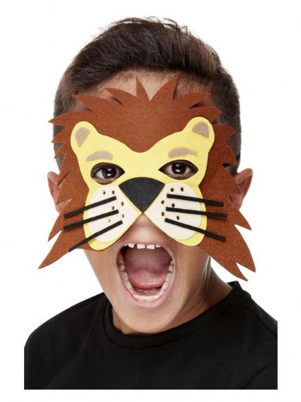 Childs Felt Lion Mask
